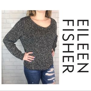 040fa0b06190cb Women s Black And White Knit Eileen Fisher Sweater on Poshmark
